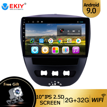 EKIY 10'' Android 9.0 For 2005-2014 Toyota Aygo Car Radio for Peugeot 107 Multimedia Video Player for Citroen C1 GPS Navigation image