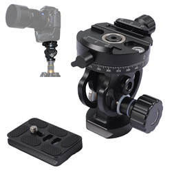 6kg Tripod Monopod Tilt Panoramic Head with Arca Swiss Quick Release Plate for Camera, Camcorder, Monopod, Tripod, Slider