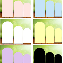 Custom Arch Backdrops Background Pink Black White Birthday Party Decoration Banner Covers Photo Shoot Doubleside Elastic Fabric