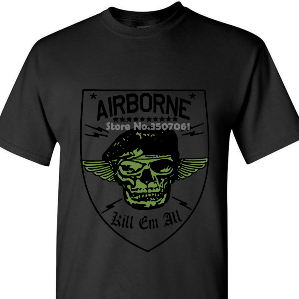 Military T Shirt Army Navy Marines Machine Gunner Sniper Paratrooper Airborne 2019 New Arrival Funny Coat Clothes Tops