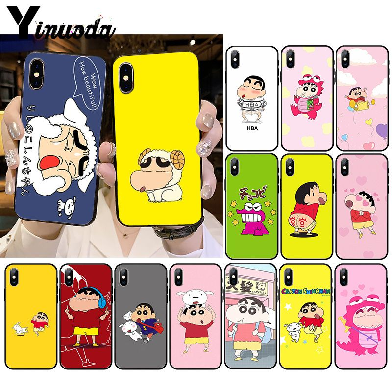 Yinuoda <font><b>Kawaii</b></font> Anime Cartoon Crayon Shin-chan Soft Silicone <font><b>Phone</b></font> <font><b>Case</b></font> for <font><b>iPhone</b></font> 11 11Pro X XS MAX XR 8 <font><b>7</b></font> 6 6S Plus 5 5S SE image