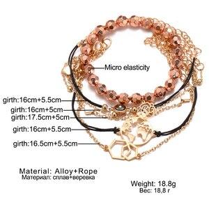 Женские богемные Браслеты Boho Rose Map, круглые браслеты с бусинами, модные Многослойные аксессуары, 2020 Bijoux