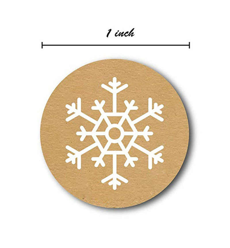 50-500pcs Christmas Gift Decoration Sticker Package Kraft Stickers 2