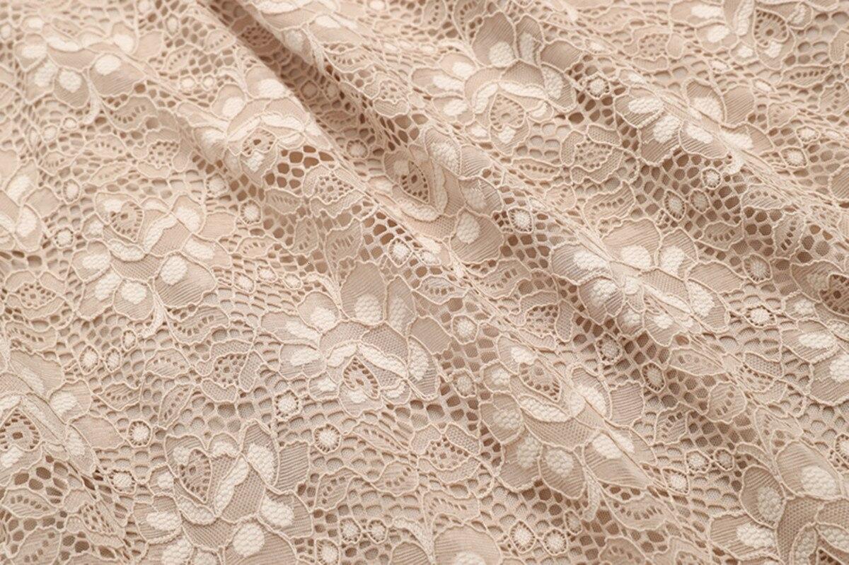 A-Line V Neck Off Shoulder Lace Knee-length Lace Bridesmaid Dress 12