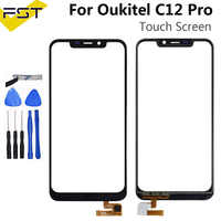 6.18''Black For Oukitel C12 Pro Touch Screen Digitizer Sensor Touch Panel Replacement For C12 Pro No Lcd+Tools