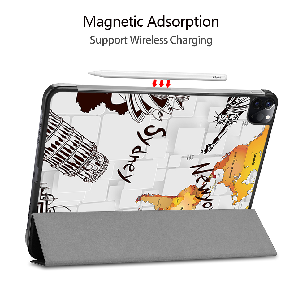 MTT Case For iPad Pro 12 9 4th 3rd Generation 2020 2018 PU Leather Magnetic Flip