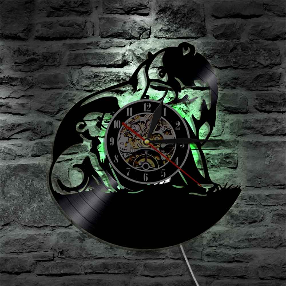 relógio de parede feito de vinil registro quartzo silencioso