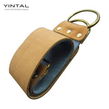 Titan de correa de cuero de piel de vaca de lona 2 capa para afilar recto razors de tela