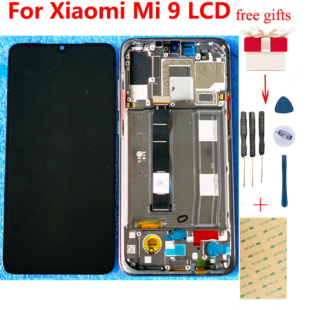 TFT 6.39 inch For <font><b>Xiaomi</b></font> Mi 9 <font><b>Mi9</b></font> LCD Touch Screen Digitizer For <font><b>Xiaomi</b></font> 9 LCD <font><b>Display</b></font> Assembly Frame Free Shipping + Tools image