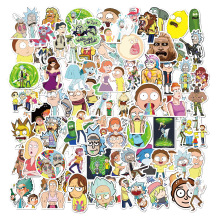 85pcs Rick and Morty Sticker Cosplay Prop Accessories PVC Waterproof Cartoon Anime Stickers for Guitar Suitcase Computer