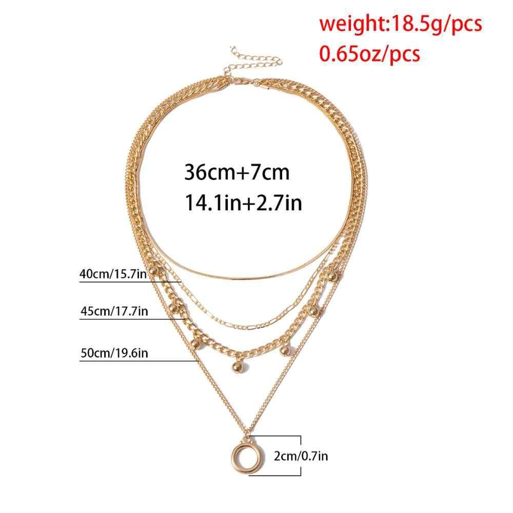 Bohème Multi couche perle collier ras du cou pendentif femmes gothique cercle serpent gland longue chaîne collier Festival chandail bijoux