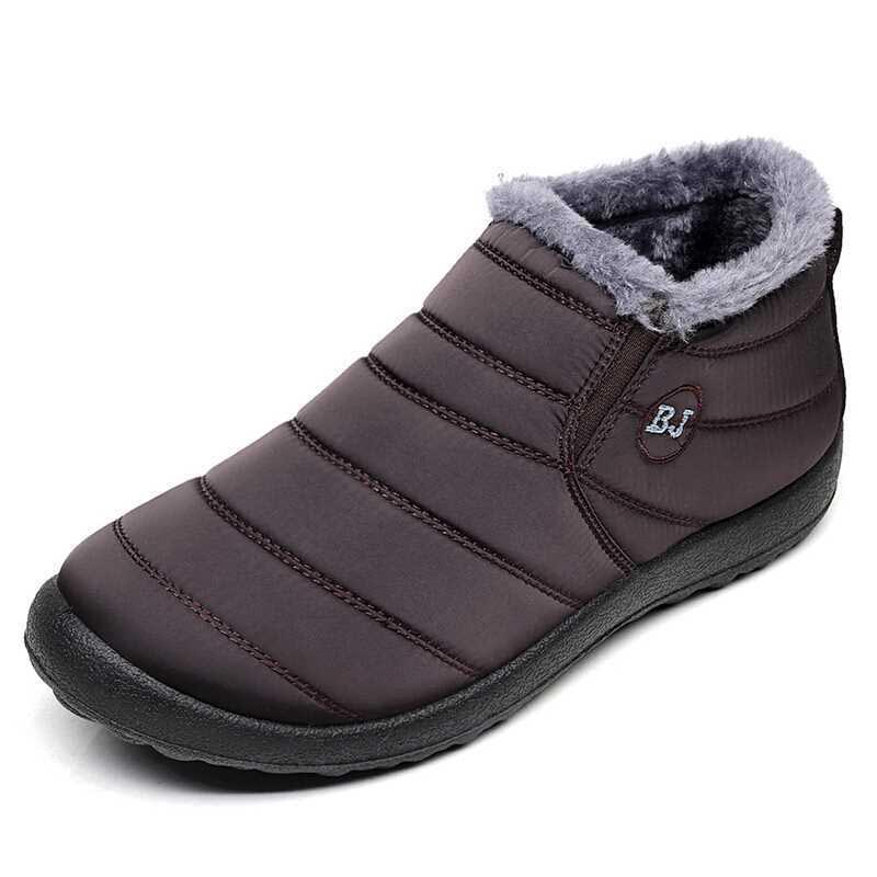 Men Shoes Winter 2019 Warm Male Boots Antiskid Bottom Snow Boots Waterproof Men Winter Footwear Zapatos De Hombre Men Shoes