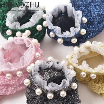 CHAOZHU shining circle pearls fashion party women funny socks harajuku ukraine kawaii calcetines muj