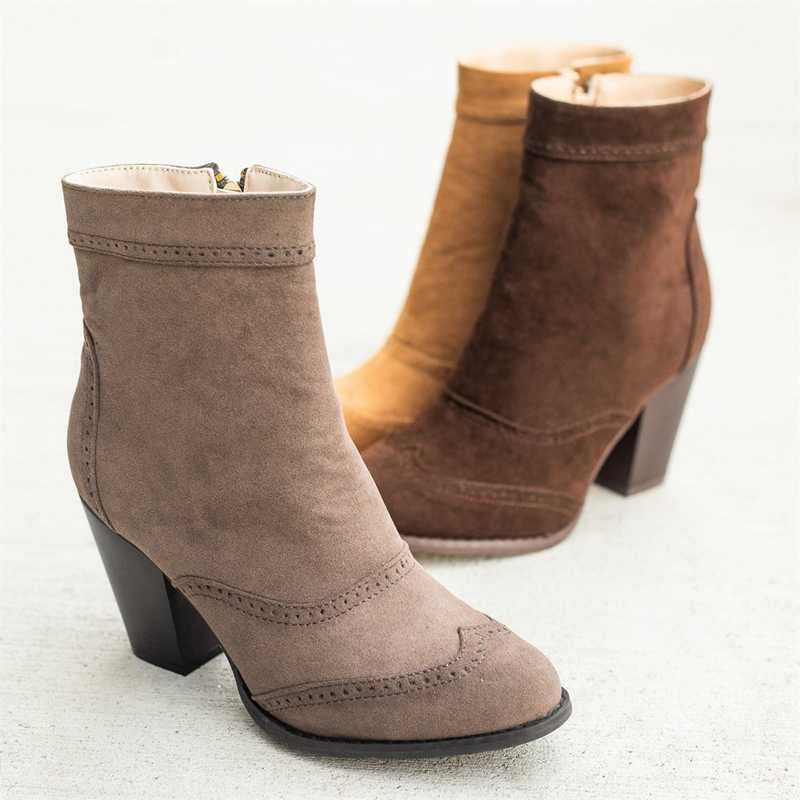 Vertvie รองเท้าผู้หญิงรองเท้าส้นสูง Slip ฤดูหนาวถุงเท้ายืดรองเท้า elegant Square รองเท้าส้นสูงรองเท้าผู้หญิง Plus ขนาด