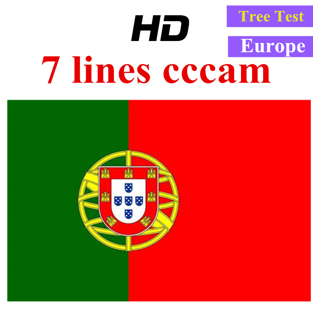 Special for Portugal Europe HD 1 Year CCCam Spain Portugal Germany Poland Satellite tv Receiver 7 Clines For DVB S2 v7s V8 SUPE-in Satellite TV Receiver from Consumer Electronics