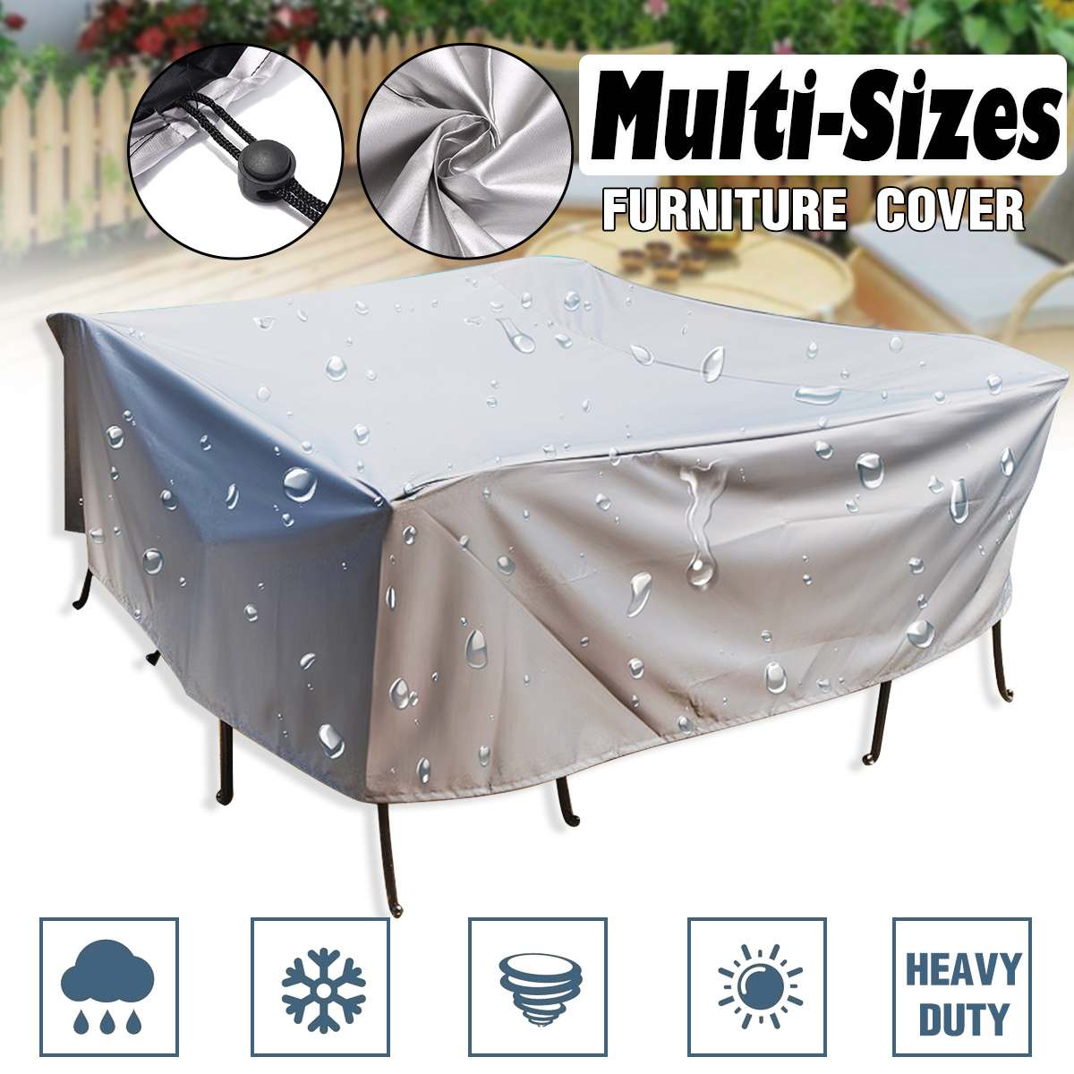 Outdoor Garden Chair Cover Outdoor Furniture Dust Cover Sofa Waterproof  PVC Coating Cloth Cover Terrace Furniture Cover