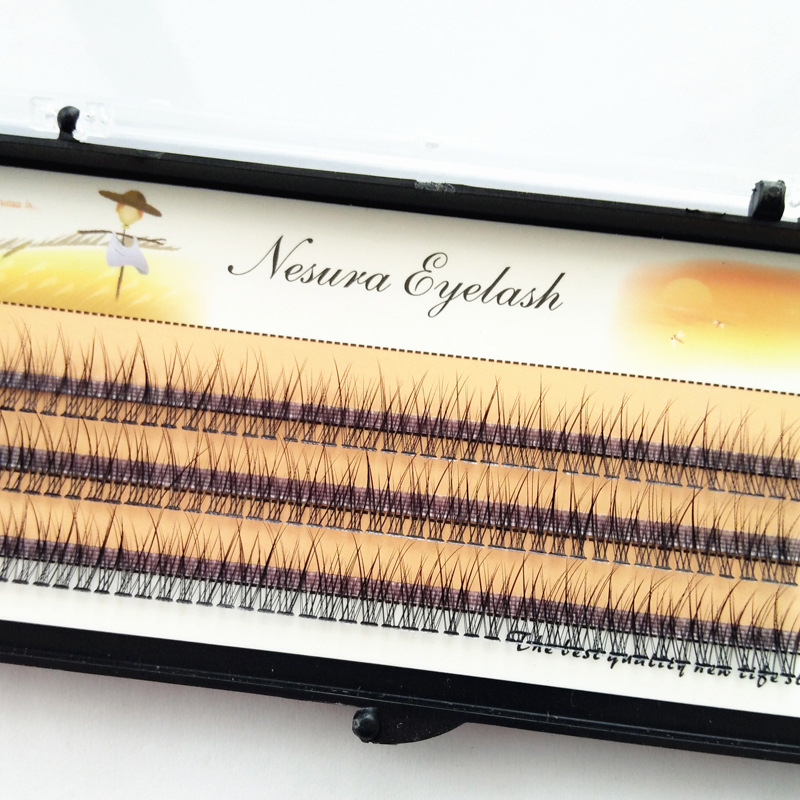 The Latest Korean Pop Fishtail Type Fashion Dovetail Fly Eyelash Two Long Middle Short Plant Grafting False Eyelashes Wholesale