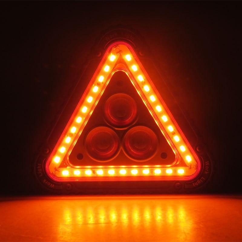 LED Working Lamp Portable Waterproof Triangular Warning Light For Camping Hiking Emergency VH99