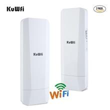 2-Pack 900Mbps 5.8G Outdoor Wireless Bridge Long Range Point to Point WiFi Transmitter with Gigabit RJ45 port IP65 waterproof