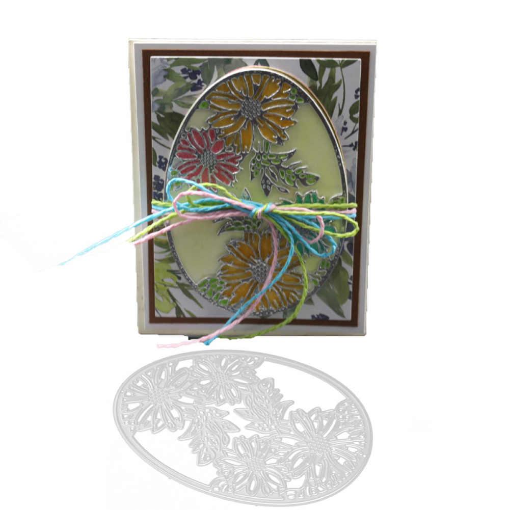 8,7*12 см металлические режущие штампы пасхальное яйцо цветок бабочка украшение тиснение для скрапбукинга бумага ремесло альбом карты нож-пуансон