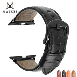 Image 5 - MAIKES For Apple 시계 밴드 44mm 40mm iWatch Series 4 3 2 1 Apple 시계 밴드 42mm 38mm 가죽 루프 시계 액세서리 팔찌