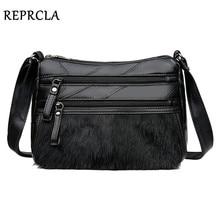 Fashion Faux Fur Women Shoulder Bag Large Capacity Ladies Handbags PU Leather Crossbody Messenger Bags стоимость