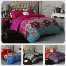 Bohemian Bedding Set Queen King 4 Sizes Duvet Cover With Pillowcase Bedclothes For Home Luxury Linen Textile