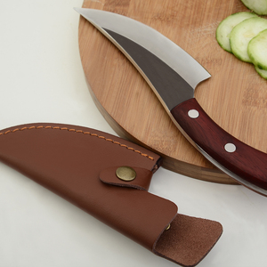 Sowoll 5,5 дюймов обвалочный нож ручной работы, кованый нож для шеф-повара, кухонный нож для мясника с полной ручкой Tang, кожаный нож, оболочка