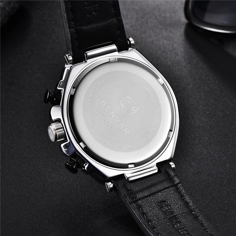 Image 3 - BENYAR 2019 New quartz men's watches Multifunction sport chronograph watch men top luxury brand wrist watch Relogio Masculino-in Quartz Watches from Watches