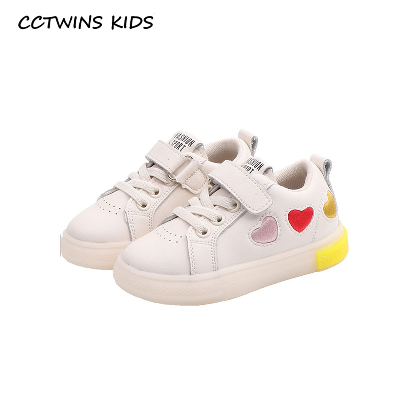 CCTWINS Kids Shoes 2020 Spring Toddler Fashion Casual Shoes Baby Girls Genuine Leather Trainers Boys Sport Sneakers FC2747
