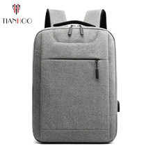 TIANHOO High quality Backpack men USB leisure computer business backpacks travel large capacity school bag(China)