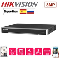 HIKVISION 4K network NVR DS 7608NI K2/8P with 8POE Port & DS 7616NI K2/16P with 16 POE Port with 2 SATA Interfaces