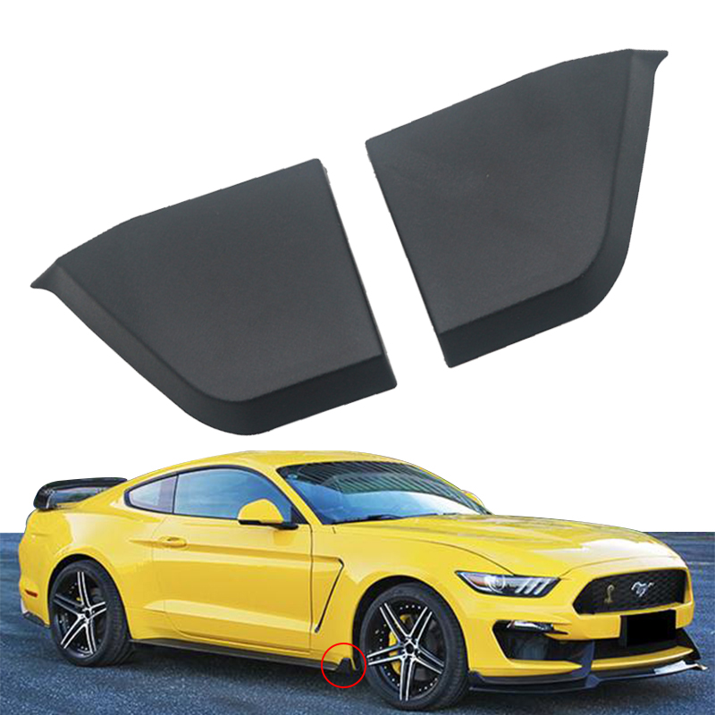 A Pair Car Front Bumper Side Skirt Spoiler Guard Winglets Protector For 2015-2018 For Ford For Mustang ABS Plastic