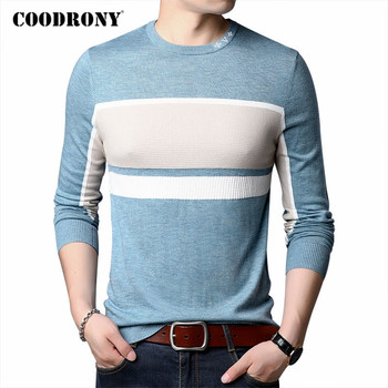 COODRONY Brand Sweater Men Streetwear Fashion Plaid Pull Homme 2020 Autumn Winter New Arrival Knitwear Shirt Pullover C1102