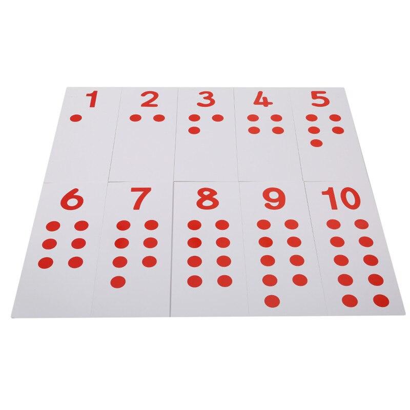 10 шт. карты для малышей Монтессори карты и счетчики математическое число 1-10 Дошкольное обучение детские игрушки