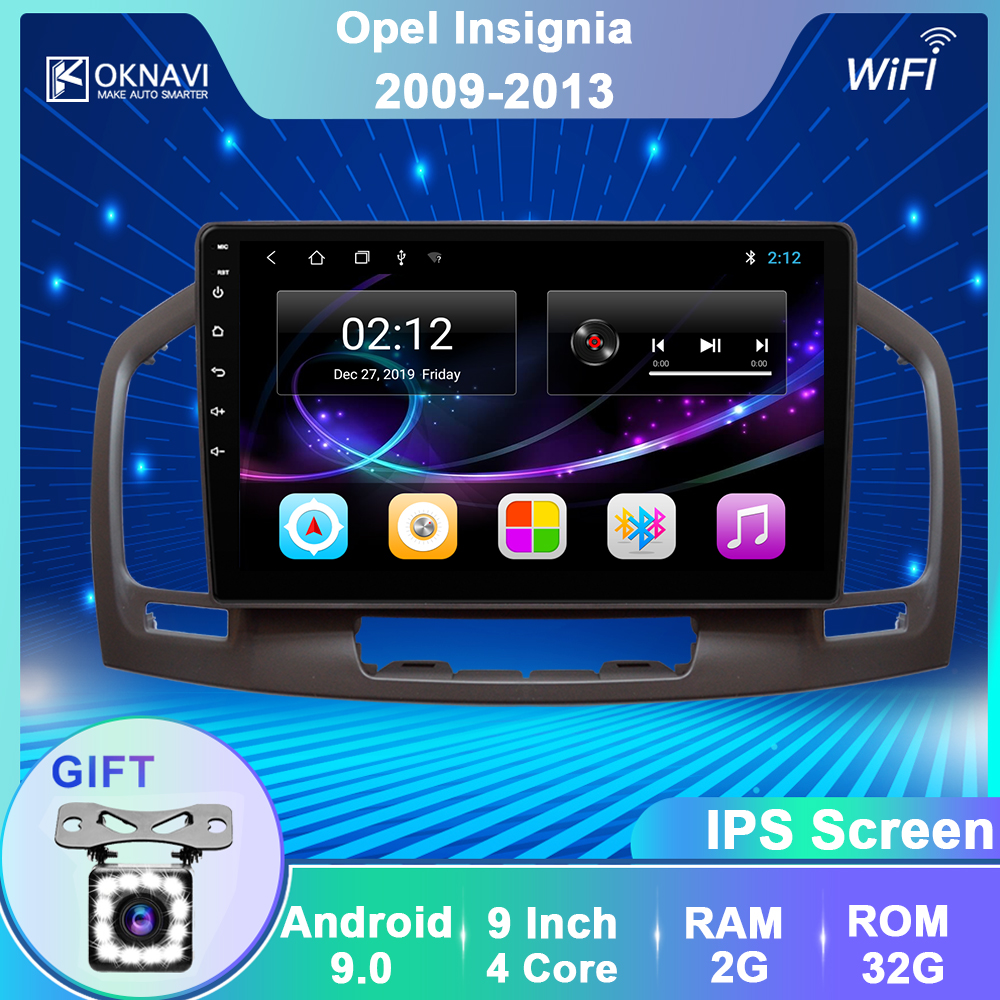 OKNAVI Car Multimedia Video Player Android 9.0 For Buick Regal For Opel Insignia 2009 2010 2012 2013 Radio GPS Navigation No DVD