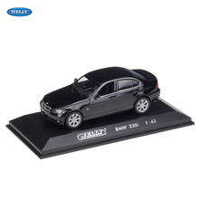 WELLY  1:43 BMW 330I car alloy model simulation decoration collection gift toy Die casting boy