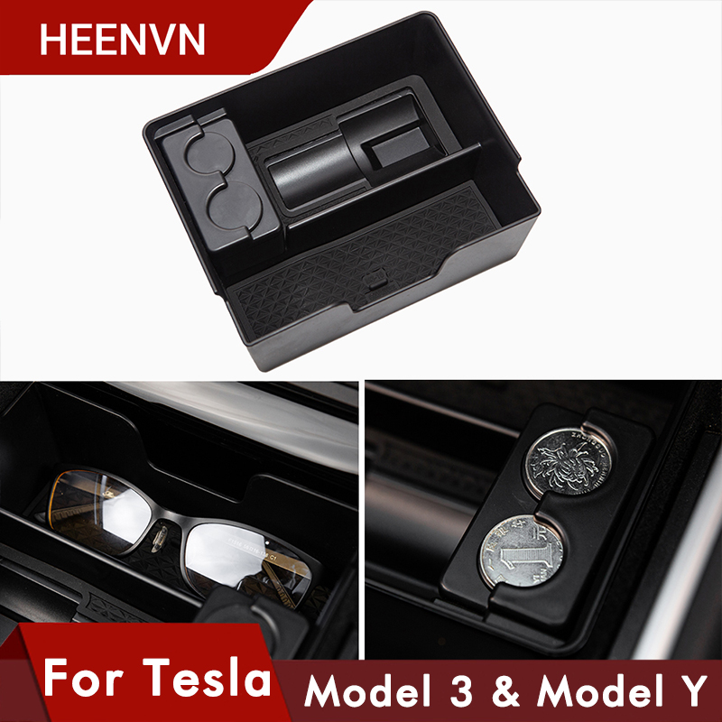 Heenvn Model3 Car Central Storage Box For Tesla Model 3 Y Accessories 2020 Stowing Tidying Center Console Organizer Model Three