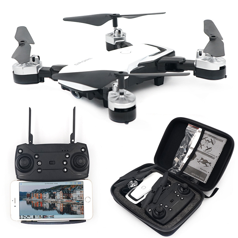 Folding Remote Control Aircraft Mini Quadcopter Unmanned Aerial Vehicle WiFi Real-Time High-definition Aerial Photography Rollin