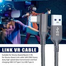 5M For Oculus Quest 2 Link Cable USB 3.0 Quick Charge Cables for Quest2 VR Data Transfer Fast Charges VR Headset Accessories