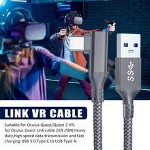 5M עבור צוהר Quest 2 קישור כבל USB 3.0 מהיר כבלי מטען Quest2 VR העברת נתונים מהיר חיובים VR אוזניות אבזרים
