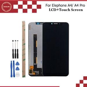 "Image 1 - Ocolor ل Elephone A4 شاشة الكريستال السائل و شاشة تعمل باللمس 5.85 ""ملحقات الهاتف المحمول ل Elephone A4 برو LCD + أدوات و لاصق"