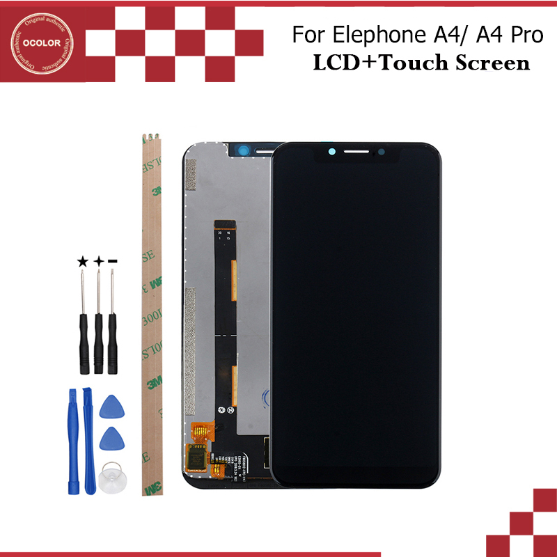 """ocolor For Elephone A4 LCD Display and Touch Screen 5.85"""" Mobile Phone Accessories For Elephone A4 Pro LCD +Tools And Adhesive-in Mobile Phone LCD Screens from Cellphones & Telecommunications"""