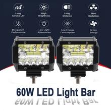 2x Led 라이트 바 60W LED 작업 빛 콤보 자동차 빛 안개 램프 운전 헤드 라이트 10pc 홍수 & 트럭 suv에 대 한 10pc 자리 LED 전구