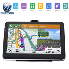 Car GPS navigator 7 inch LCD touch screen FM Bluetooth voice satellite truck navigation Navitel256MB Europe free latest map cheap AONEREX 800x480 Vehicle GPS Units Equipment CD Player Charger DVD Player FM Transmitter Mobile Phone MP3 MP4 Players lincoln navigutor