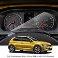 Для Volkswagen Polo Virtus MK6 AW 2018-PresentCar Стайлинг gps Навигация экран стекло защитная пленка приборная панель ТПУ дисплей пленка