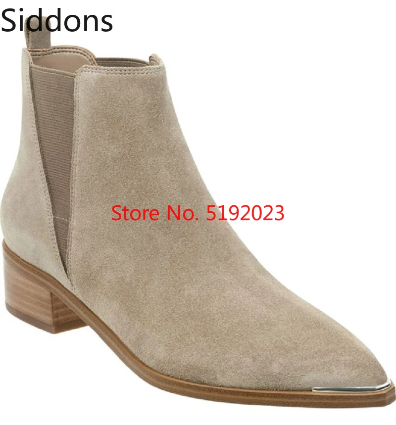 Winter Fashion Brand Design Men  Ankle High Quality Slip-On Boots Casual Pointed Chelsea Boots Male Casual Boot D163