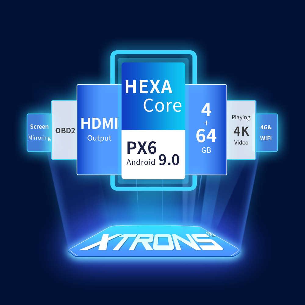 XTRONS 7 ''PX6 アンドロイド 9.0 ユニバーサル 2 喧騒車のマルチメディアラジオオーディオステレオプレーヤー GPS ナビゲーションの Bluetooth 5.0 、 Hdmi USB なし DVD