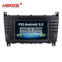 PX5 4GB+64GB Android 9.0 Car multimedia player for Mercedes Benz W203 C180 C200 C220 C230 C240 C250 W209 2005 2006 DSP IPS radio