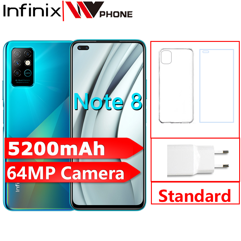 Infinix Note 8 Smartphones 6GB 128GB 6.95 Inch HD+ Helio G80 Octa-core 64MP Quad Rear Camera 5200mAh Dual speakers Cellphones